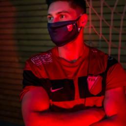 Mund-Nasen-Maske - Schwarz | TuS Schutterwald - Die roten Teufel der Ortenau