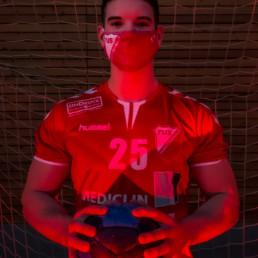 Mund-Nasen-Maske - Rot | TuS Schutterwald - Die roten Teufel der Ortenau